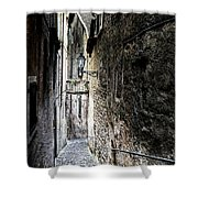 old alley in Italy Shower Curtain