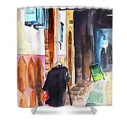 Old And Lonely In Morocco 03 Shower Curtain
