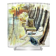 Old And Lonely In Portugal 08 Shower Curtain