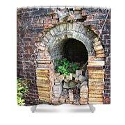 Old Antique Brick Kiln Fire Box Shower Curtain