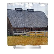 Old Barn And Fence Shower Curtain