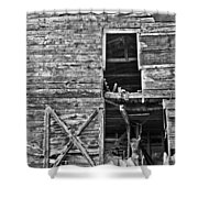 Old Barn Door In Black And White Shower Curtain