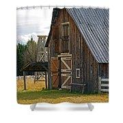 Old Barn Doors Shower Curtain