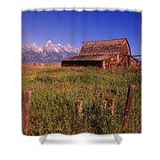 Old Barn, Grand Teton National Park Shower Curtain