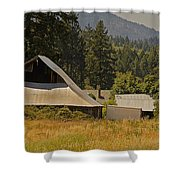 Old Barn On A Hot Summer Day In The Applegate Shower Curtain