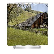 Old Barn On Highway 20 Shower Curtain