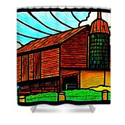 Old Barn On Keezletown Road Shower Curtain
