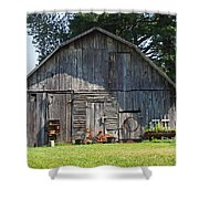 Old Barn South Of Brevard Shower Curtain