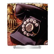 Old Bell Telephone Shower Curtain