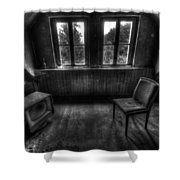 Old Black And White Tv Shower Curtain