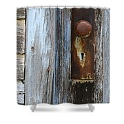 Old Blue Door 1 Shower Curtain