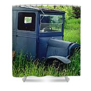 Old Blue Ford Truck Shower Curtain