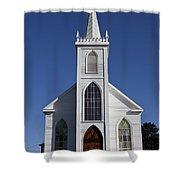 Old Bodega Church Shower Curtain