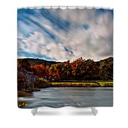 Old Bridge In The Fall Shower Curtain