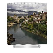 Old Bridge Of Mostar Shower Curtain by Ayhan Altun