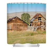 Old Building Woodruff Utah Shower Curtain