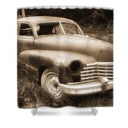 Old Caddy-sepia Shower Curtain