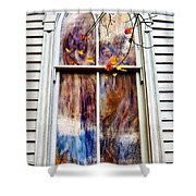 Old Carpenter Gothic Style Church Window In Wv Fall Shower Curtain