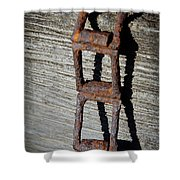 Old Chain And Barn Wood Shower Curtain