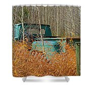 Old Chevy In The Field Shower Curtain