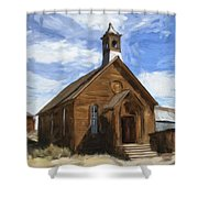 Old Church At Bodie Shower Curtain
