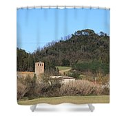 Old Church Near Montelupo Shower Curtain