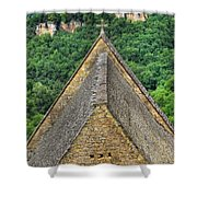 Old Church View Dordogne France Shower Curtain