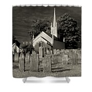 Old Church Yard Shower Curtain