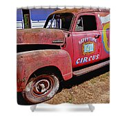 Old Circus Truck Shower Curtain