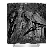 Old Clark Homestead Lost Valley Shower Curtain