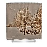 Old Country Christmas Shower Curtain