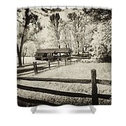 Old Country Saw-mill - Toned Shower Curtain