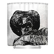 Old Cowboy Shower Curtain