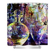 Old Decanters Shower Curtain
