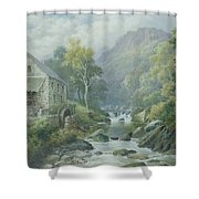 Old Disused Mill Dolgelly Shower Curtain