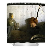 Old Doll In The Attic Shower Curtain