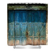 old door in China town Shower Curtain