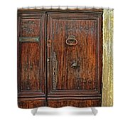Old Door Study Provence France Shower Curtain