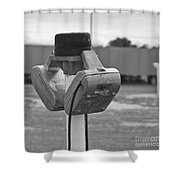 Old Drive-in Bw Shower Curtain