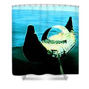 Old Egypt Handmade Boat  Shower Curtain