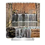 Old Erie Canal Locks Shower Curtain