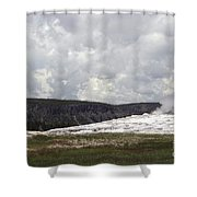 Old Faithful At Rest Shower Curtain