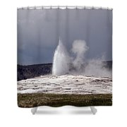 Old Faithful Letting Off Some Steam Shower Curtain
