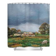 Old Farm - Monyash - Derbyshire Shower Curtain