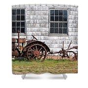Old Farm Equipment Shower Curtain