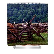 Old Farm Hay Rake Shower Curtain