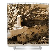 Old Fashion Thank You Card Shower Curtain