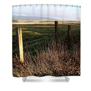 Old Fence And Landscape At Point Reyes California . 7d9968 Shower Curtain