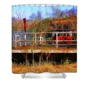 Old Ferry On The Cumberland Shower Curtain
