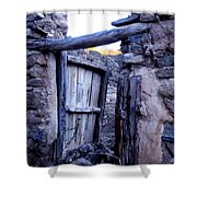 Old Finca Ancient Hause In The Spanish  Mountains Shower Curtain